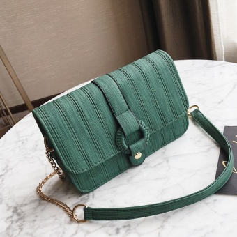 Small Square retro female New style bag chain bag (Green)
