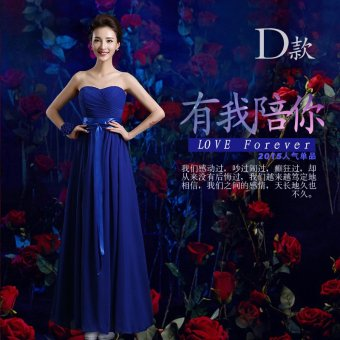 Spring and New style bridesmaid dress (817 long Blue D paragraph) (817 long Blue D paragraph)