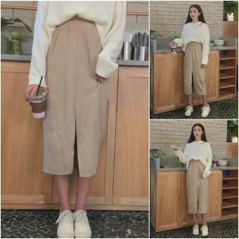 Step wick velvet New style Korean package skirt A-line dress