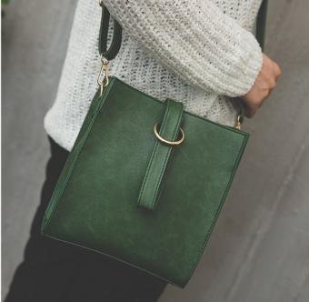Ulzzang Korean-style female New style student messenger bag (Green)