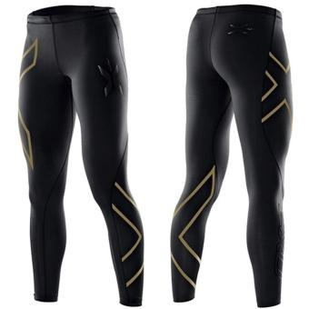 Women 2XU Professional Compression Speed Dry Fitness Pants Gold -intl