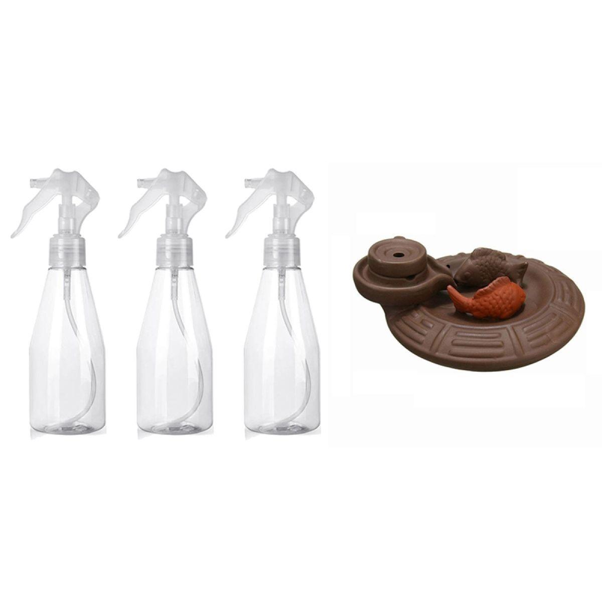 1 Pcs Ceramic Fish Backflow Incense Burner Incense Cones Sticks Holder 3 Pcs 200ml Misting Spray Bottle Lazada