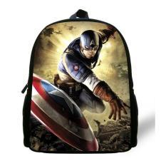 41f755b793a8 12 inch Mochila Captain America Bag Avengers Backpack Kids Bags Boys Age  1-6 Children
