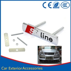 AUTO CAR VEHICLE 3D S LINE METAL STICKER COVERS STYLING FOR AUDI A4 . Source ·