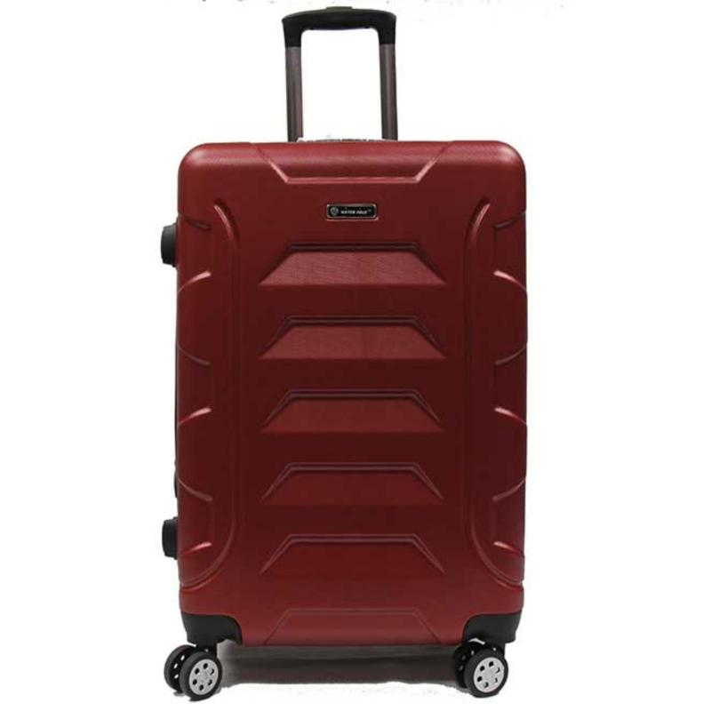 24 inch Medium Groovy ABS Expandable Luggage with 8 Spinner Wheels and Number Lock