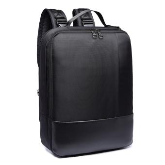 3-way Business Style Laptop Backpack Also Messenger Bag and Handbag- Black - 2