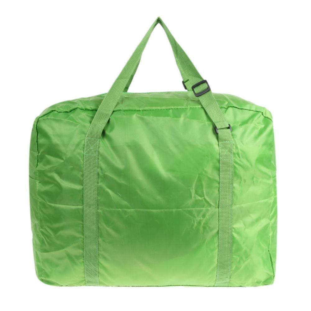 32L Foldable Travel Bag Waterproof Luggage Storage Bag(Green) - intl