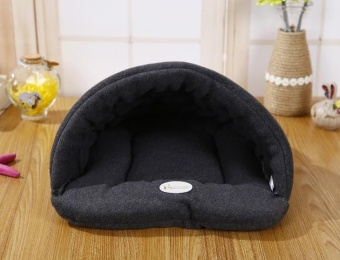 Harga 38 * 28cm Pet Supplies Kennel House Beds Removable Wash Pet NestCat Litter Slippers Cushion Grey - intl