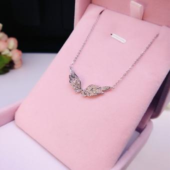 Angel wings Korean-style female temperament diamond pendant clavicle chain