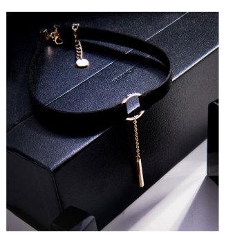 Black neck band neck necklace
