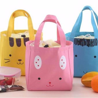 Harga Blue Insulated Lunch Bags