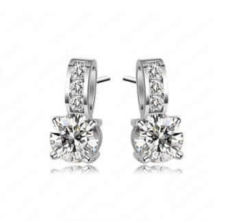 Harga Brilliant Solitaire Earrings (Made with Swarovski Crystals)