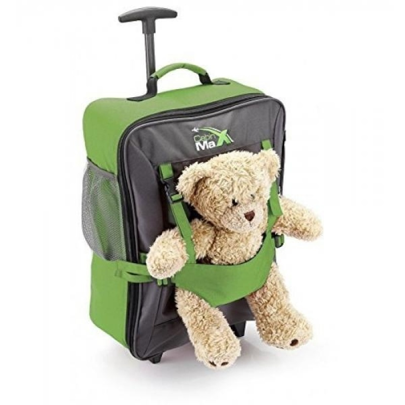 Cabin Max Bear Childrens Luggage Carry on Trolley Suitcase (Green) - intl