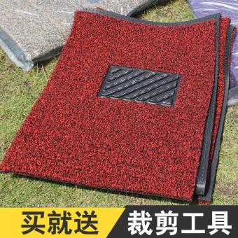 Can be cut car mats Single Main Driving Wire Ring mat universal PVCcircle silk mats brushed car mats - 2