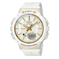 Casio Baby-G For Running Series Step Tracker White Resin Strap Watch BGS100GS-7A