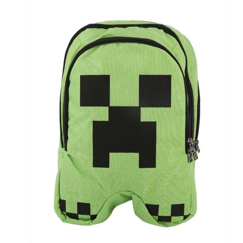 CHEER Man Woman Students Double Shoulder Bag School Backpack Green - intl