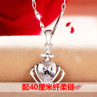 CROWN 520 925 pendant Valentine's Day gift clavicle chain