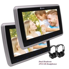 Dual Car DVD Player 10.1 Headrests 1080P Video Wide View LCD Screen Car Monitors Support HDMI