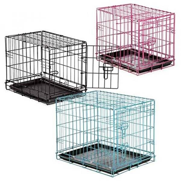 Easy Dual Latching Dog Crate, , Teal - intl Singapore