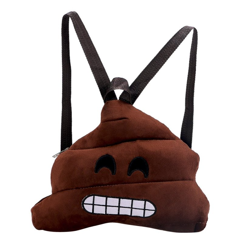 Fashion Smile Face Emoji School Bag Kids Backpack (Tooth)