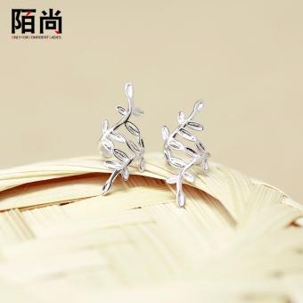 Female models Street is still 925 silver leaves students Korean-style ear bone clip