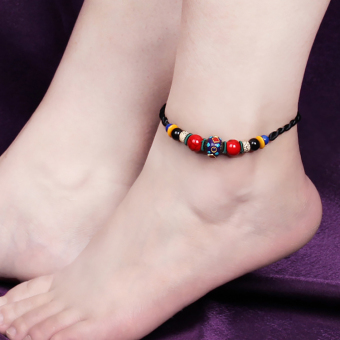 Feng Yi national style Bodhi child handmade woven anklets