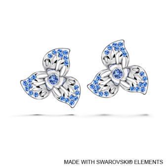 Florinda Earrings (Sapphire) - Crystals from Swarovski®