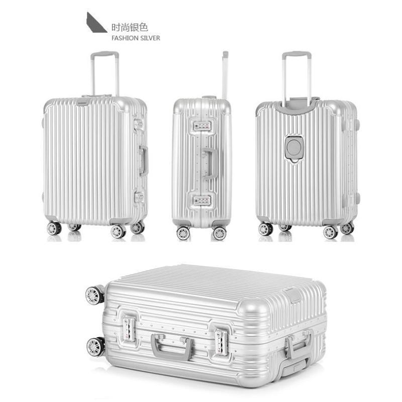 Framed Hard Shell Trolley Luggage  Aluminium-Framed-20 Inch(Silver)