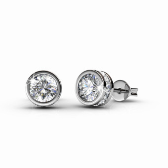 Harga Glam Solitaire Earrings - Crystals from Swarovski(R)