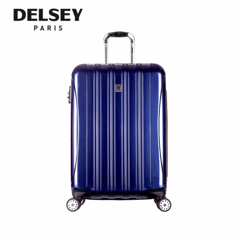 Helium Aero 4 Wheel Hard Case Trolley TSA 69CM Expandable - (Blue)
