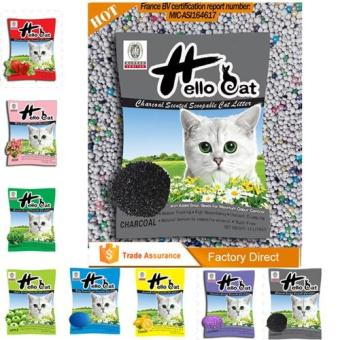 Hello Cat Scoopable Charcoal Cat Litter 10L