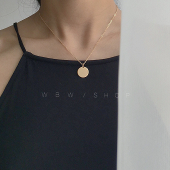HM wild round clavicle chain necklace