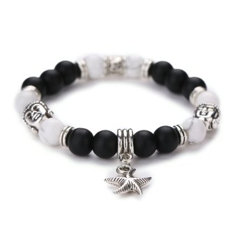 Harga Men Women Fashion Natural Stone Bead Bracelet Lava Bracelet(NO.2) - intl