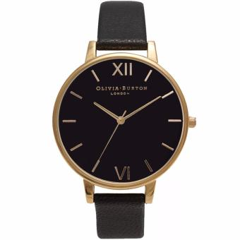 Harga Olivia Burton Ladies Big Dial Black and Gold OB15BD55