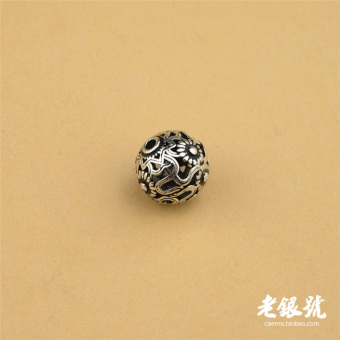 Harga A52 rattan Thai silver pattern sunflower loose beads beaded