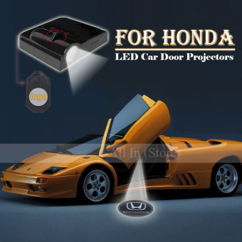 Harga 2Pcs Car Door Projector Welcome Lights for (HONDA) - No Drilling Required - intl