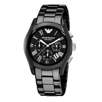 Harga Emporio Armani Men's Black Ceramic Strap Watch AR1400