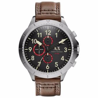 Harga Armani Exchange Men's AX1755 Brown Leather Quartz Watch