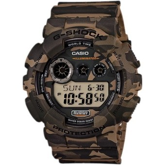 Harga Casio G-Shock GD-120CM-5D Camouflage Series Green Army Resin Digital Men's Watch
