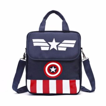 Harga Boys Girls Children Kids Schoolbag Captain America Backpack for School Baby Kids Child Bookbag - intl