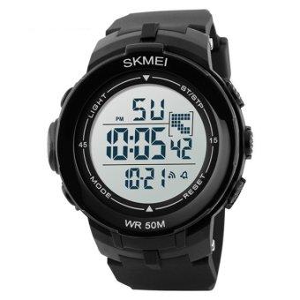 SKMEI Luxury Brand Men Military Sports Watches Waterproof LED Date Digital Watch For Men Clock Digital Watch 1127(white) - 2