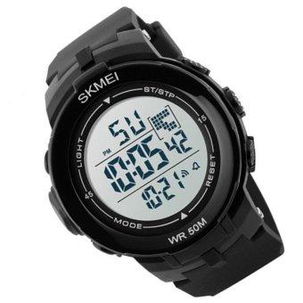 SKMEI Luxury Brand Men Military Sports Watches Waterproof LED Date Digital Watch For Men Clock Digital Watch 1127(white) - 3