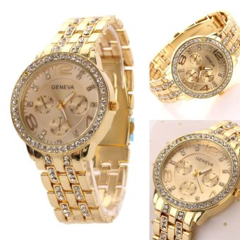 Hot Selling Casual Wristwatch Women Luxury Quartz Watch (Gold) - 2