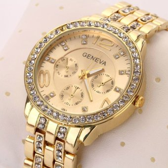 Hot Selling Casual Wristwatch Women Luxury Quartz Watch (Gold) - 5