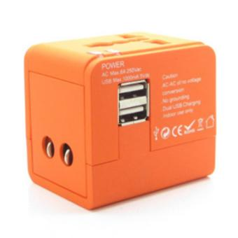 Universal Travel Adaptor with 2 USB Ports - intl