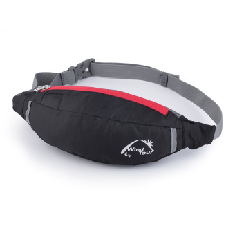 Harga Allwin Travel Bag Waist Pouch Fanny Pack Purse Belt Hiking Handy Zip Sport Running Black