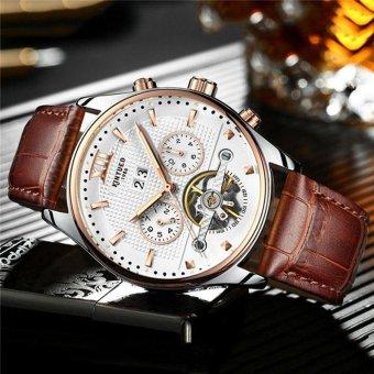 KINYUED Brand Tourbillon Mechanical Watch Men Stainless White - intl - 2