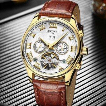 KINYUED Brand Tourbillon Mechanical Watch Men Stainless White - intl - 3