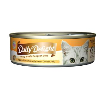 Harga Daily Delight Skipjack Tuna White with Sweet Corn in Jelly (24 x 80g)