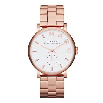 Harga Marc by Marc Jacobs Silver Dial Rose Gold-tone Ladies Watch MBM3244